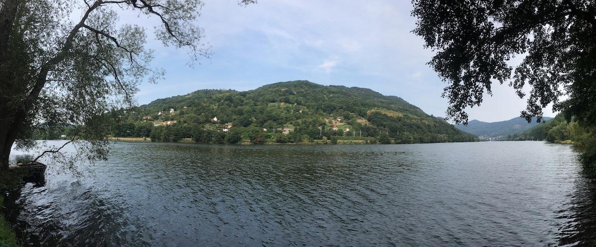 Blick auf Berg