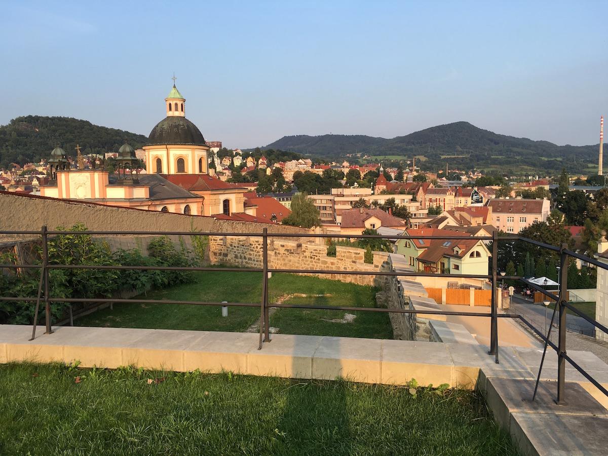 Blick auf Dĕčín