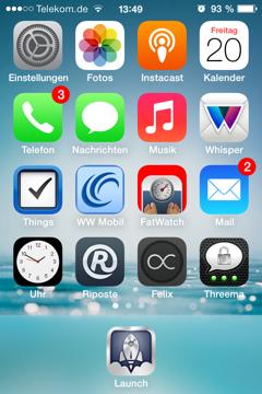 Homescreen iOS 7