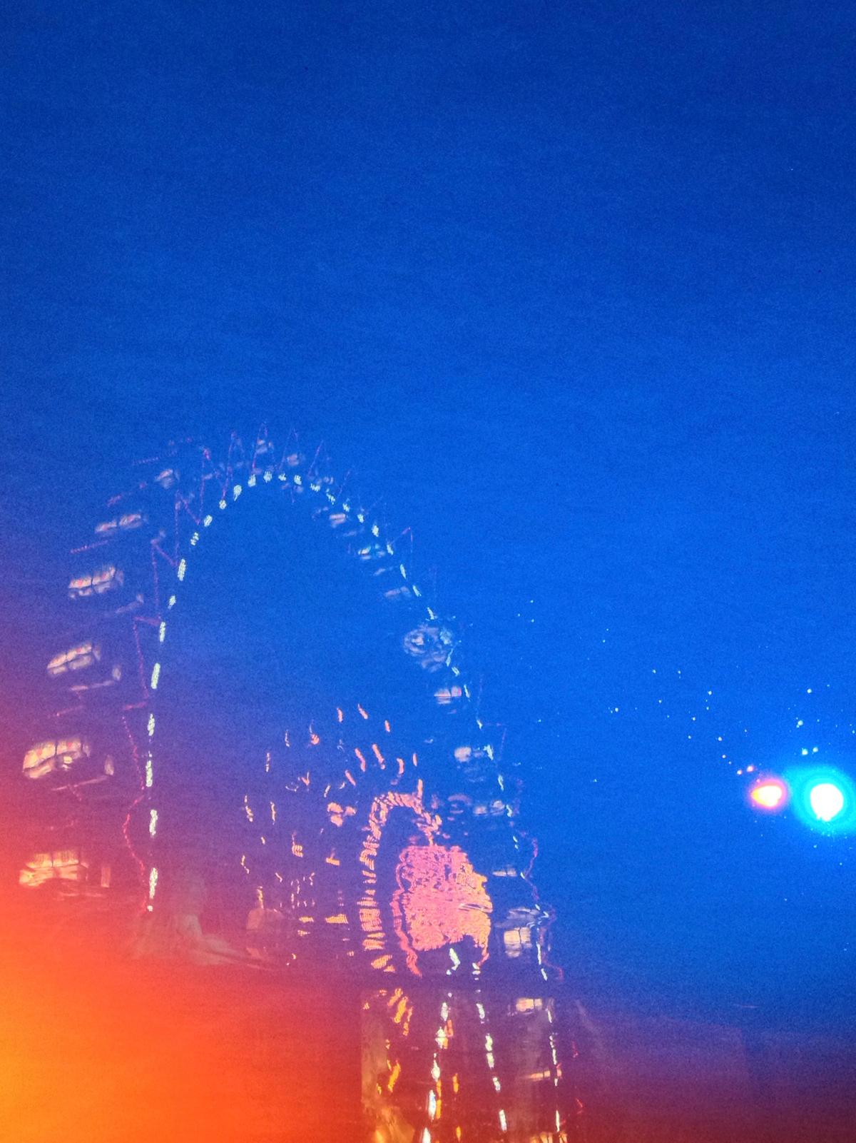 Reflektion des Riesenrads
