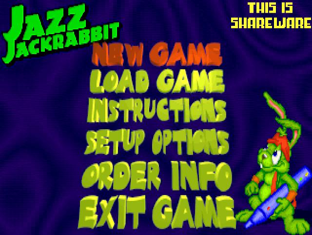 Jazz Jackrabbit Startbildschirm
