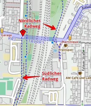 Karte der Monumentenbrücke