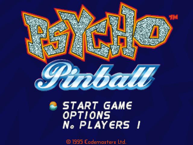 Psycho Pinball-Startbildschirm